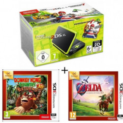 New 2DS XL Noir/Citron Vert + Donkey Kong Country Returns + …