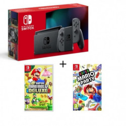 Pack Nintendo Switch Grise + New Super Mario Bros U Deluxe + …