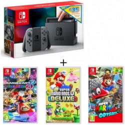 Pack Nintendo Switch Grise Ed.Limitée + New Sup.Mario BrosU