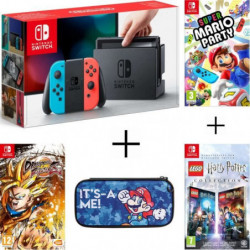 Pack Nintendo Switch Néon + Dragon Ball FighterZ