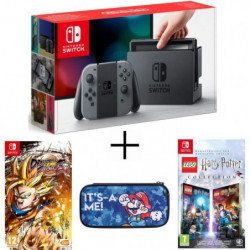 Pack Nintendo Switch Grise + Dragon Ball FighterZ Switch