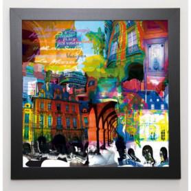 KALY Image encadrée Victor Hugo 57x57 cm