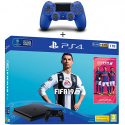 Pack PS4 1 To Noire + FIFA 19 + 2eme Manette Dualshock 4