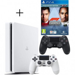 Pack PS4 : Console PS4 500 Go Blanche + Manette Dual Shock 4