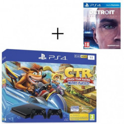 Pack PS4 1 To Noire + Crash Team Racing + 2eme manette