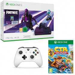 Xbox One S 1 To Fortnite + 1 mois d'essai au Xbox Live Gold