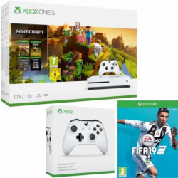 Xbox One S 1  To Minecraft Creators + Fifa 19 + manette