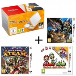 New 2DS XL Blanche et Orange + Monster Hunter 4 Ultimate + …
