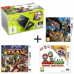 New DS XL Noir et Citron + Monster Hunter 4 Ultimate + Mario