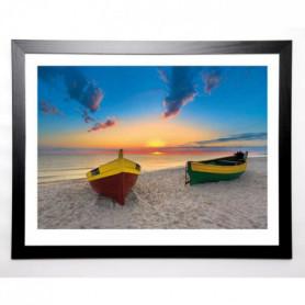 SOKOLOVSKA Image encadrée Two Lonely Boats 67x87 cm
