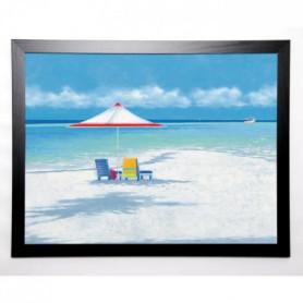 AUBONNE Image encadrée Beach Life I 67x87 cm Bleu