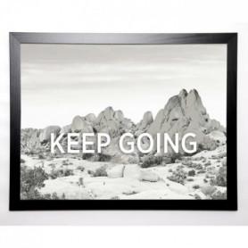BRAUN STUDIO Image encadrée Keep Going 67x87 cm