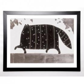 GOVINDER Image encadrée Pearly King 67x87 cm Noir