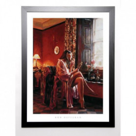 HEFFERAN Image encadrée Femme avec Miroir 67x87 cm
