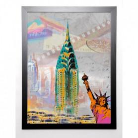 JULES Image encadrée New York Vintage 67x87 cm