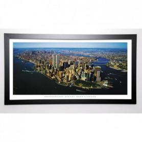 LINDNER Image encadrée Aerial View of Manhattan 57x107 cm