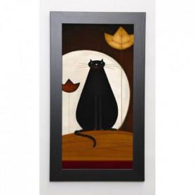 PARRY Image encadrée Cat and the Moon II 29,7x57 cm