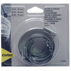 Cartec 6 Colliers de Serrage Métalliques 25 a 70mm