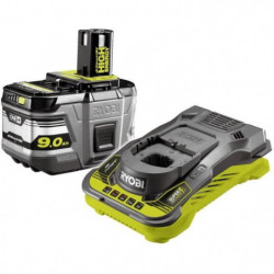 RYOBI Pack chargeur + batterie lithium+ 18 Volts 9,0 Ah