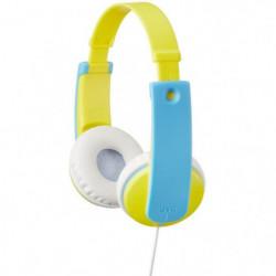 JVC HA KD7  Y - Casque enfant jaune et bleu