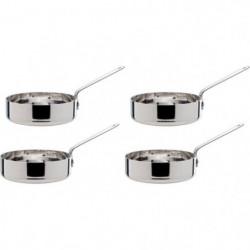 COSY&TRENDY 8315881 Set de 4 petites pôeles a frire acier