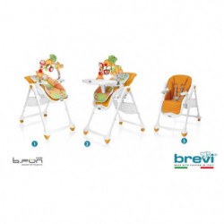 BREVI Chaise Haute B-Fun Multifonctions Citrouille