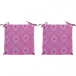 O'CBO Lot de 2 galettes de chaises déhoussables Confort Azteques