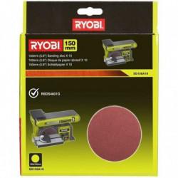 RYOBI 10 disques abrasif 150mm auto-agrippants
