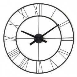 Horloge ronde - Métal - Ø 60 x épaisseur 3 cm - Noir