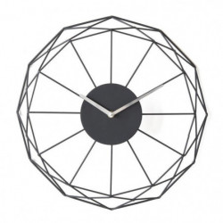 Horloge ronde - Métal - Ø 39 x épaisseur 6 cm - Noir
