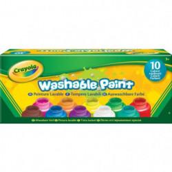 Crayola - 10 pots de peinture lavable - boîte française