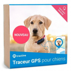 TRACTIVE Traceur GPS chien - Collier gps pour chien - Suivi
