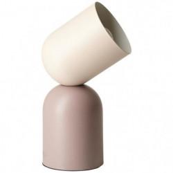 BRILLANT Lampe a poser Yan - Métal - E27 1x30W - Beige