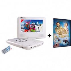 TAKARA-VR132WPK  Lecteur DVD Portable Ecran 7'' + Film DVD à la