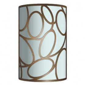 ELOS Applique tôle acier verre cylindre 15x23x9 cm