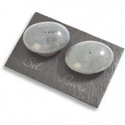 LEBRUN - 2 pieces sel & poivre (modele galets)
