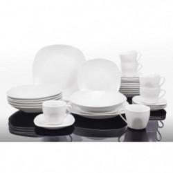 T1003048-60X - Service de table 60 pieces - Porcelaine - Forme