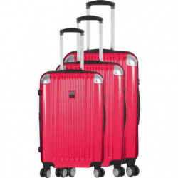FRANCE BAG - Set de 3 valises  ABS/POLYCARBONATE Fushia