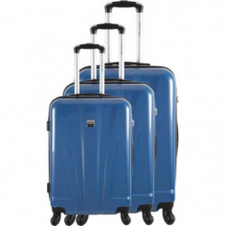 FRANCE BAG - Set de 3 valises  ABS/POLYCARBONATE Bleu