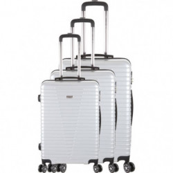 FRANCE BAG - Set de 3 valises 8 roues multidirectionelles