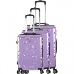 FRANCE BAG Set de 3 Valises 8 roues abs/polycarbonate Parme