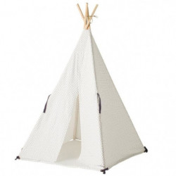 Gaby & Sam  - Tipi Timeless et son tapis - Matiere Coton & Bois