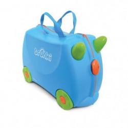 TRUNKI Valise Porteur à roulettes pour enfants- BleuTerrance