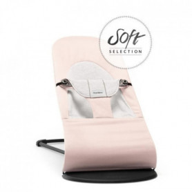 BABYBJORN - Transat Balance Soft, Rose clair/Gris, Cotton/Jersey