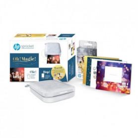 HP Sprocket Grise 200 + 1 pack papier Zink 20 feuilles