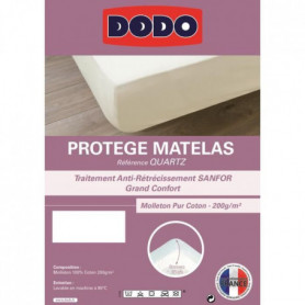 DODO Protege Matelas QUARTZ 140x190cm Forme Housse