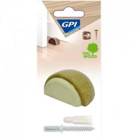 GPI Butée de porte Sol demi-lune - Hetre bois clair