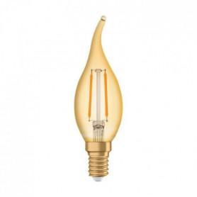 OSRAM Ampoule coup de vent LED flamme E14 Vintage Edition 1906