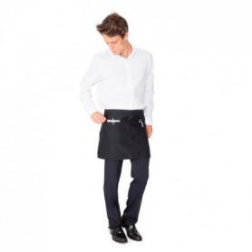 Tablier court de sommelier - 2 poches - Noir