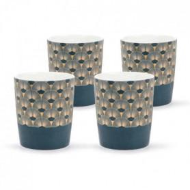 ABS T1904311-GX set de 4 tasses tisane en porcelaine forme V